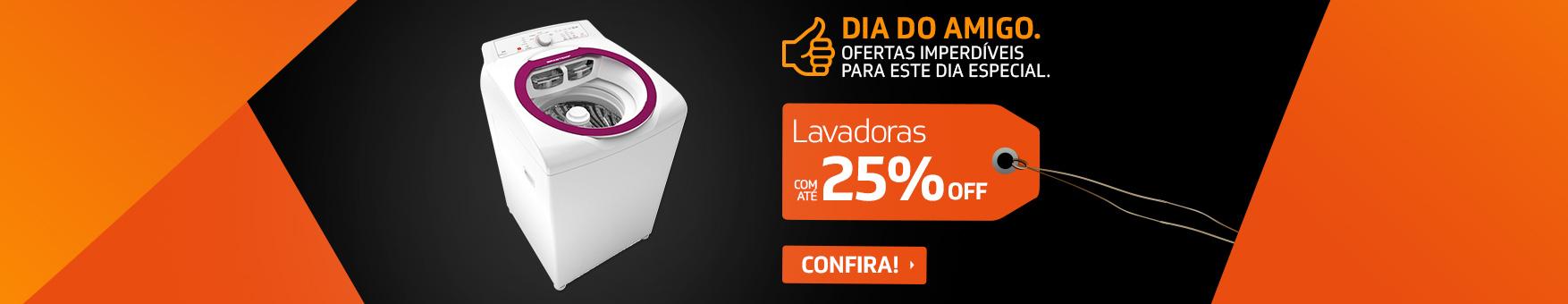 PROGRAMADO 17 A 21/04 - AMIGO LAVADORAS 25%OFF