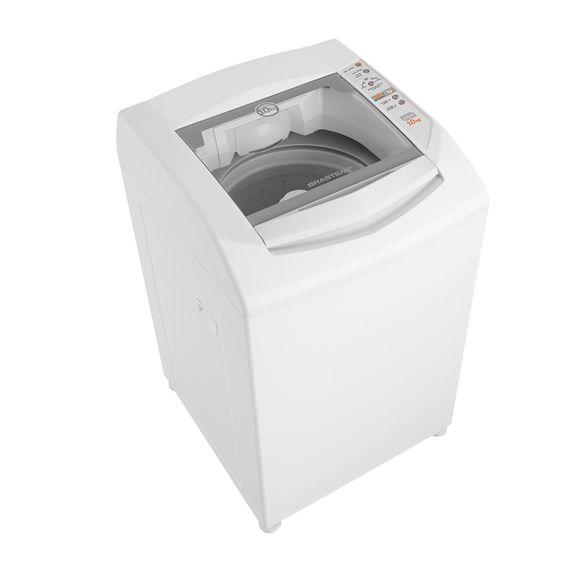 Máquina de lavar 10kg - Lavadora de roupas 10kg Clean Branca Brastemp BWC10BB - Imagem em perspectiva