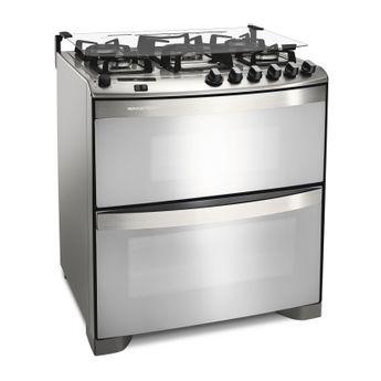 Fogão: fogão 5 bocas com forno duplo Brastemp Ative! BFD5QBR - Imagem em perspectiva