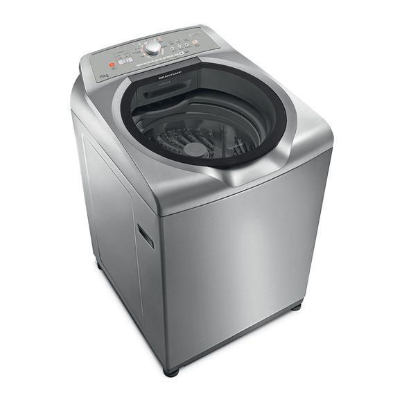 Lavadora de Roupas 15kg Inox Brastemp - Máquina de Lavar 15kg Inox BWN15AK
