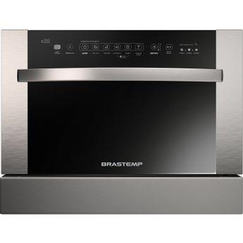 Lava louças - Máquina de lavar louças de embutir 6 serviços cinza Brastemp