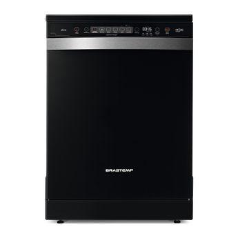 Lava louças - Máquina de lavar louça 12 serviços Ative preta Brastemp BLF12AE