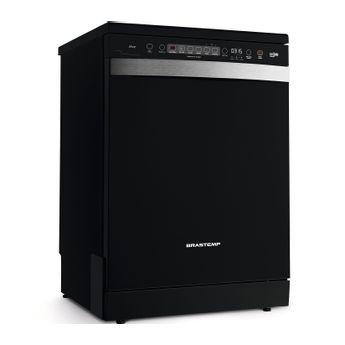 Lava louças - Máquina de lavar louça 12 serviços Ative preta Brastemp BLF12AE - Imagem em Perspectiva