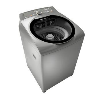 Máquina de Lavar Inox: Lavadora de roupas inox 11 kg Brastemp Ative! BWG11AR - Imagem em perspectiva