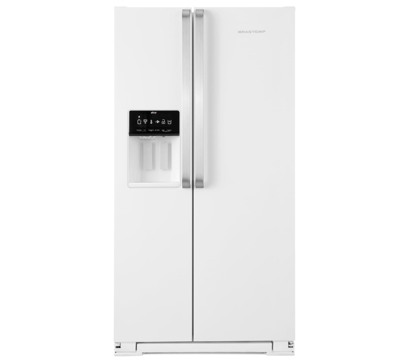 Geladeira Brastemp Frost Free Side by Side 560 litros Branca com Dispenser de Água e Gelo