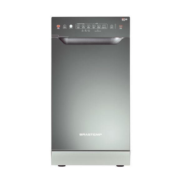 Lava louças - Máquina de lavar louças 10 serviços cinza Brastemp BLF10AS