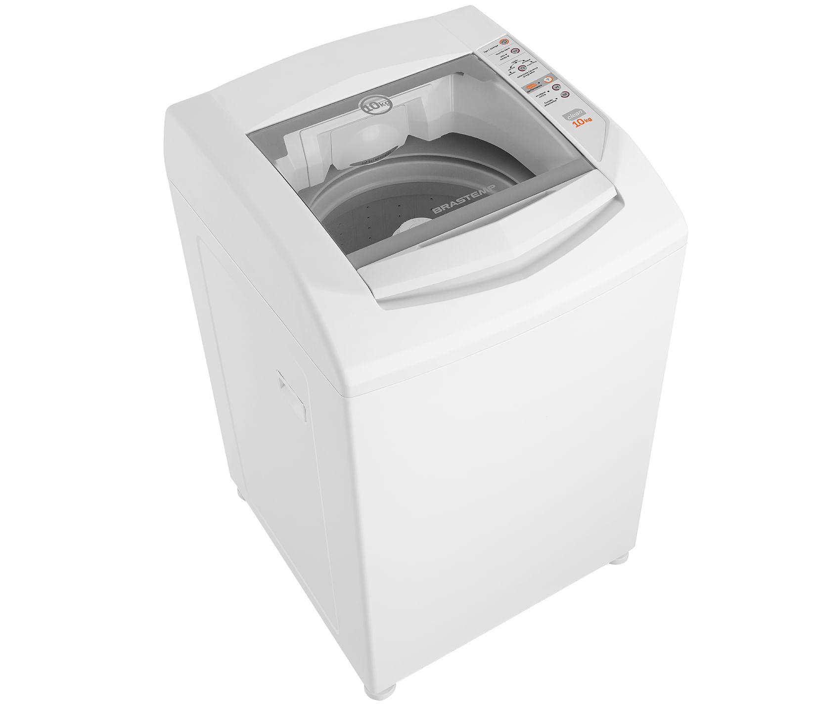 Máquina de Lavar Brastemp 10kg com Enxágue Extra e Função Amaciante