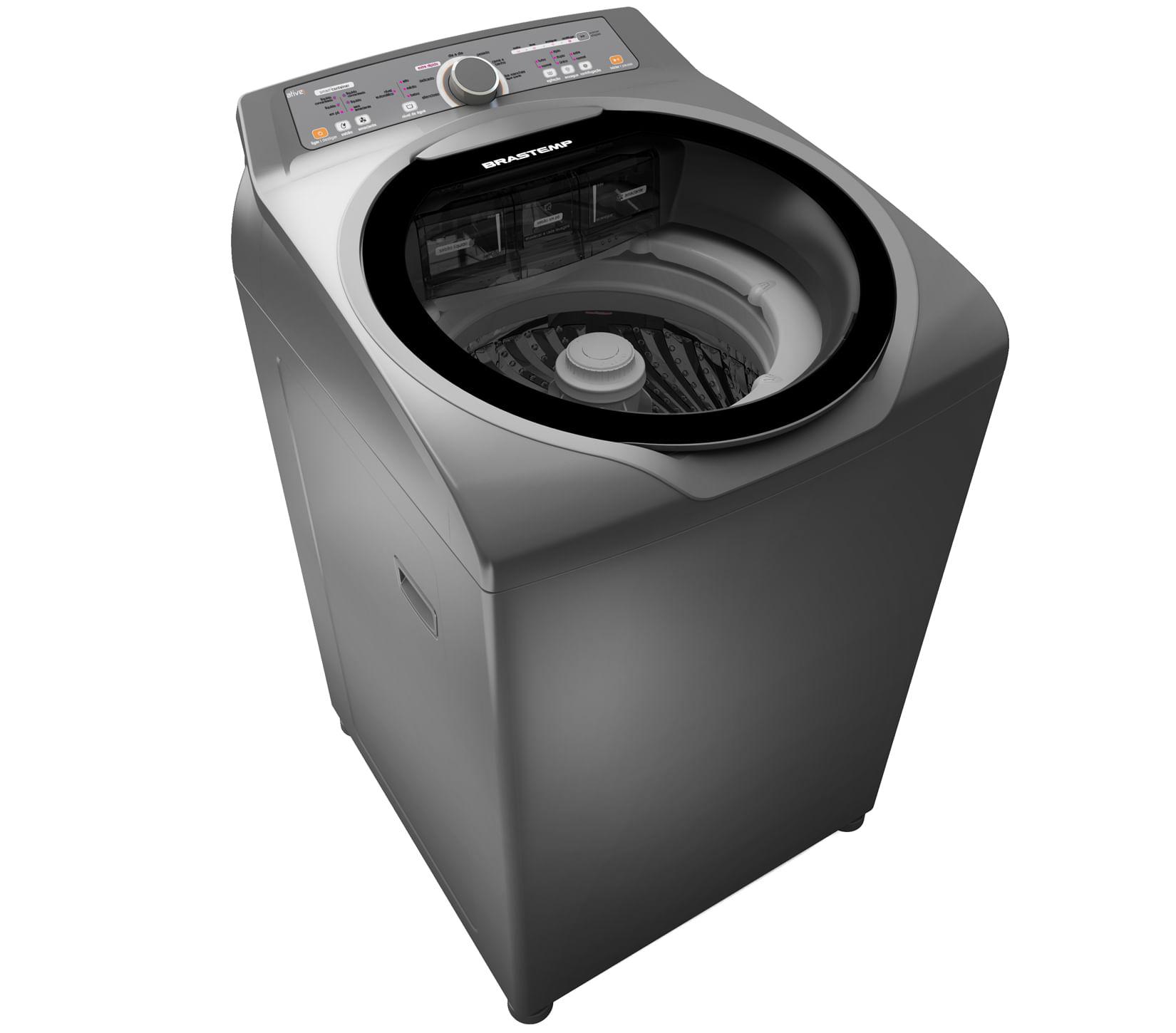 Lavadora Brastemp Ative! 11Kg com Sistema Smart & Fast com Água Quente