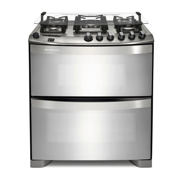 Fogão: fogão 5 bocas com forno duplo Brastemp Ative! BFD5QBR - Imagem Frontal