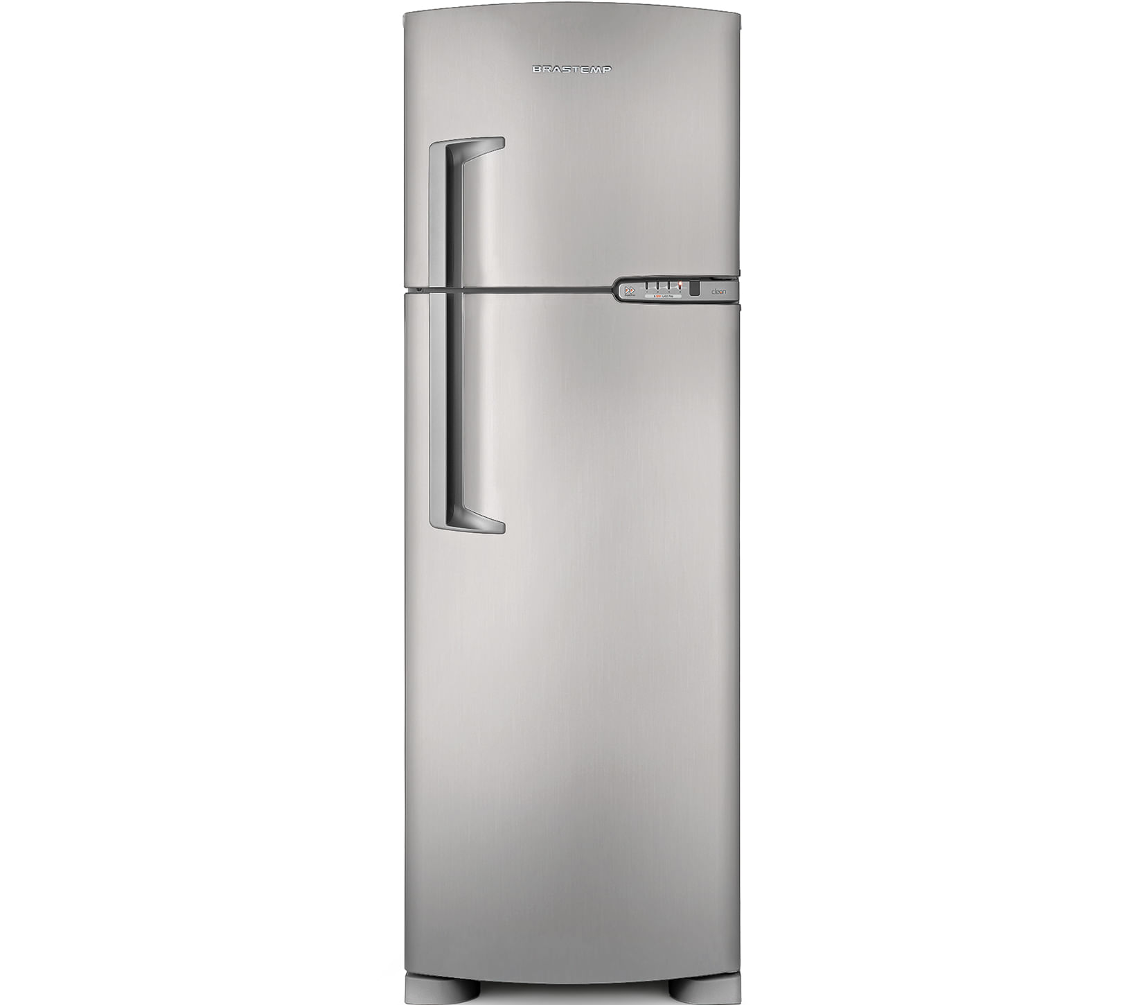 a847605f9 BrastempGeladeira Brastemp Frost Free Duplex 378 litros cor Inox com  Porta-Latas prateleiraPrincipal