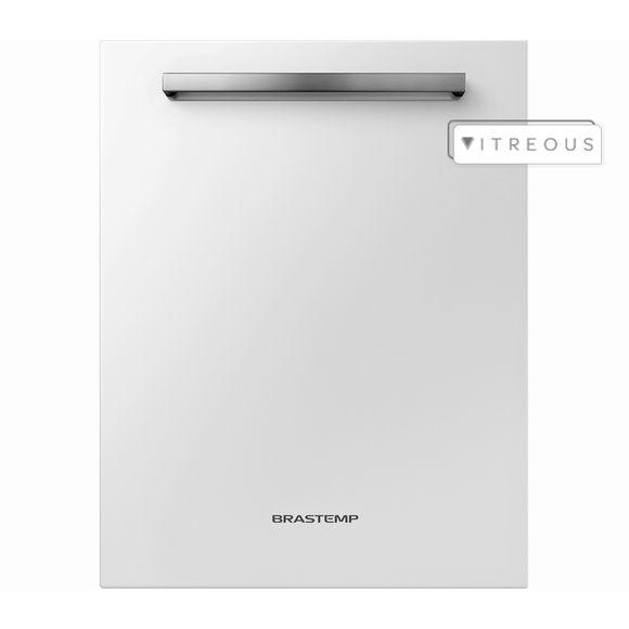 Lava Louças 14 Serviços Brastemp Vitreous Branca Com Ciclo Pesado - Glb14ab 110V