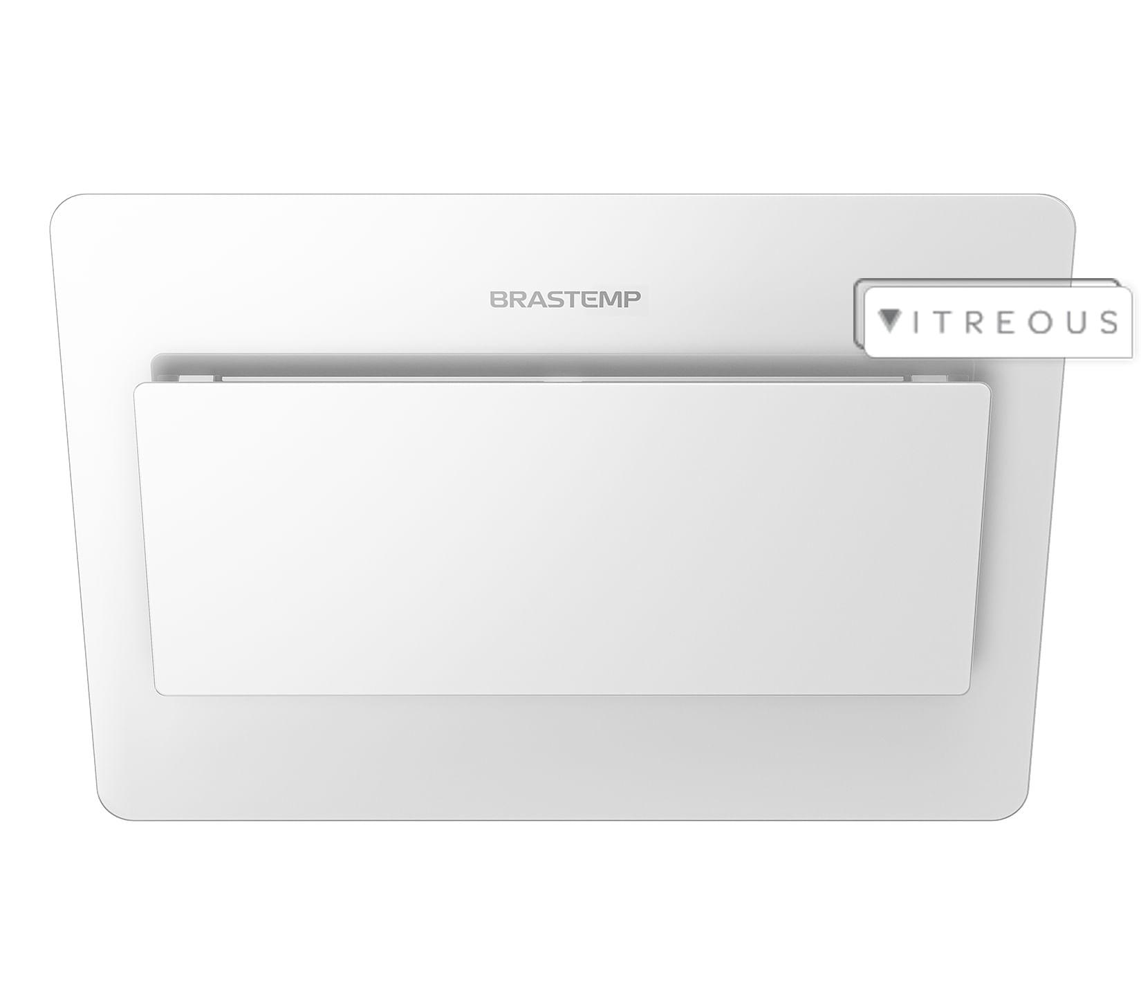 Coifa de Parede Brastemp 80 cm branca com design icônico e alta sucção