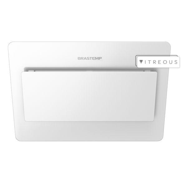 Coifa De Parede Brastemp 80 Cm Branca Com Design Icônico E Alta Sucção - Gav80ab 220V