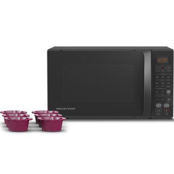 Micro-ondas Brastemp 20 Litros com 6 formas de cupcake Nome modelo prateleira BMW20AT