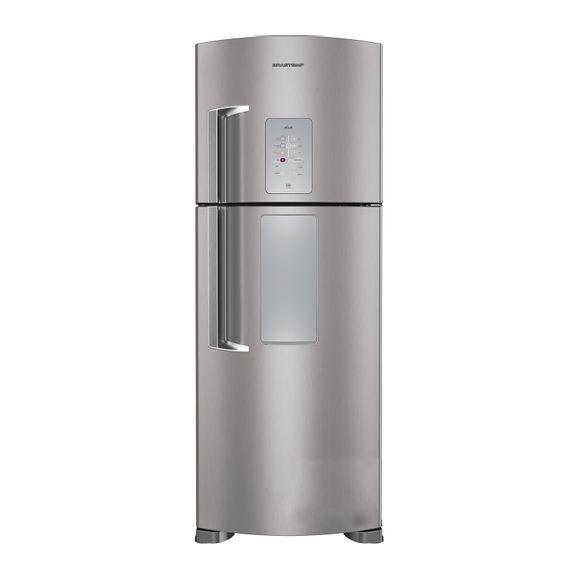 Geladeira Frost Free Inox 429 Litros Brastemp Ative com Smart Door - Geladeira Frost Free Inox BRK50NK