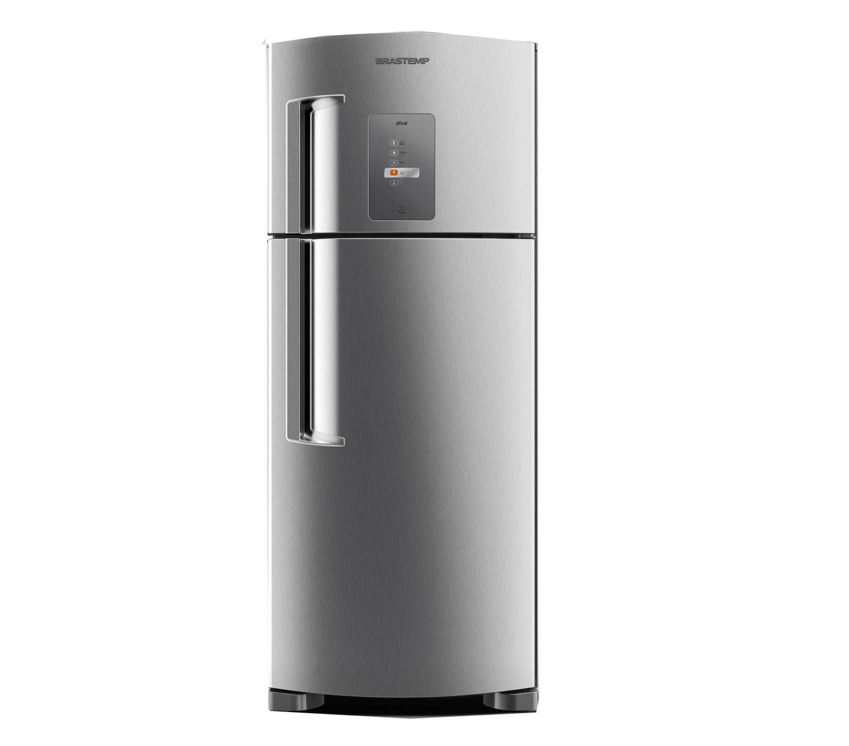 Geladeira Brastemp Frost Free Duplex 429 litros cor Inox com Twist Ice