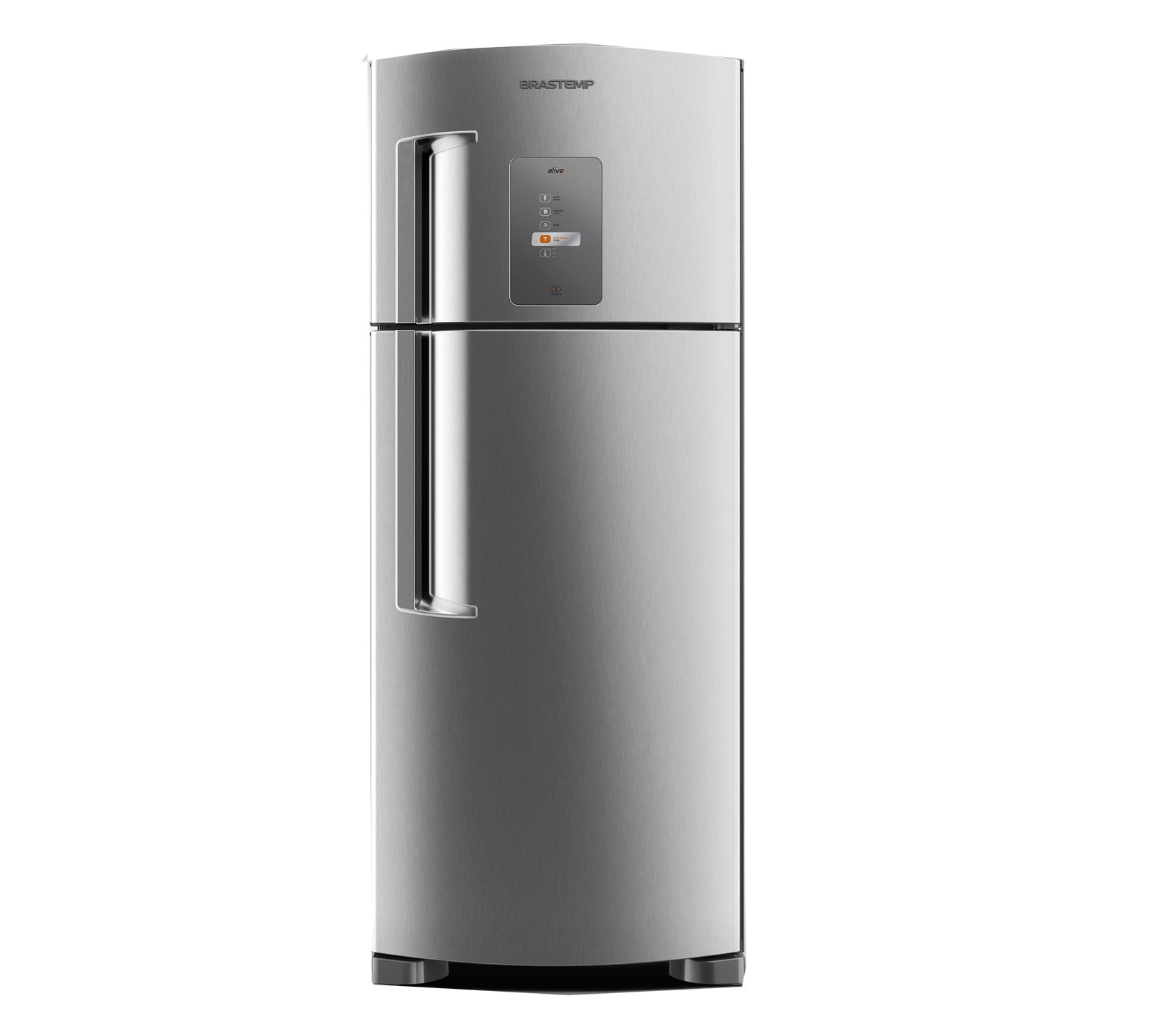 Geladeira Brastemp Frost Free Duplex 403 litros cor Inox com Twist Ice