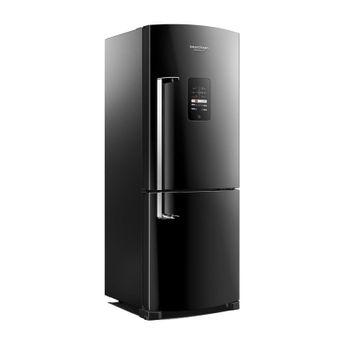 Geladeira Preta 422 Litros Frost Free Ative! Inverse Brastemp - Geladeira Preta Brastemp BRE50NEANA - Perspectiva