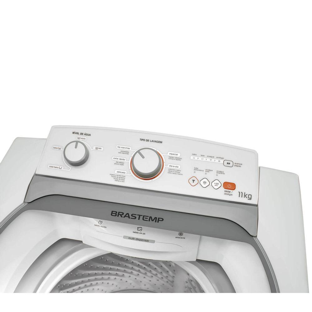 7ddf76bfd ... Máquina de Lavar: Lavadora de roupas 11 kg branca Brastemp BWJ11AB -  Imagem em perspectiva ...