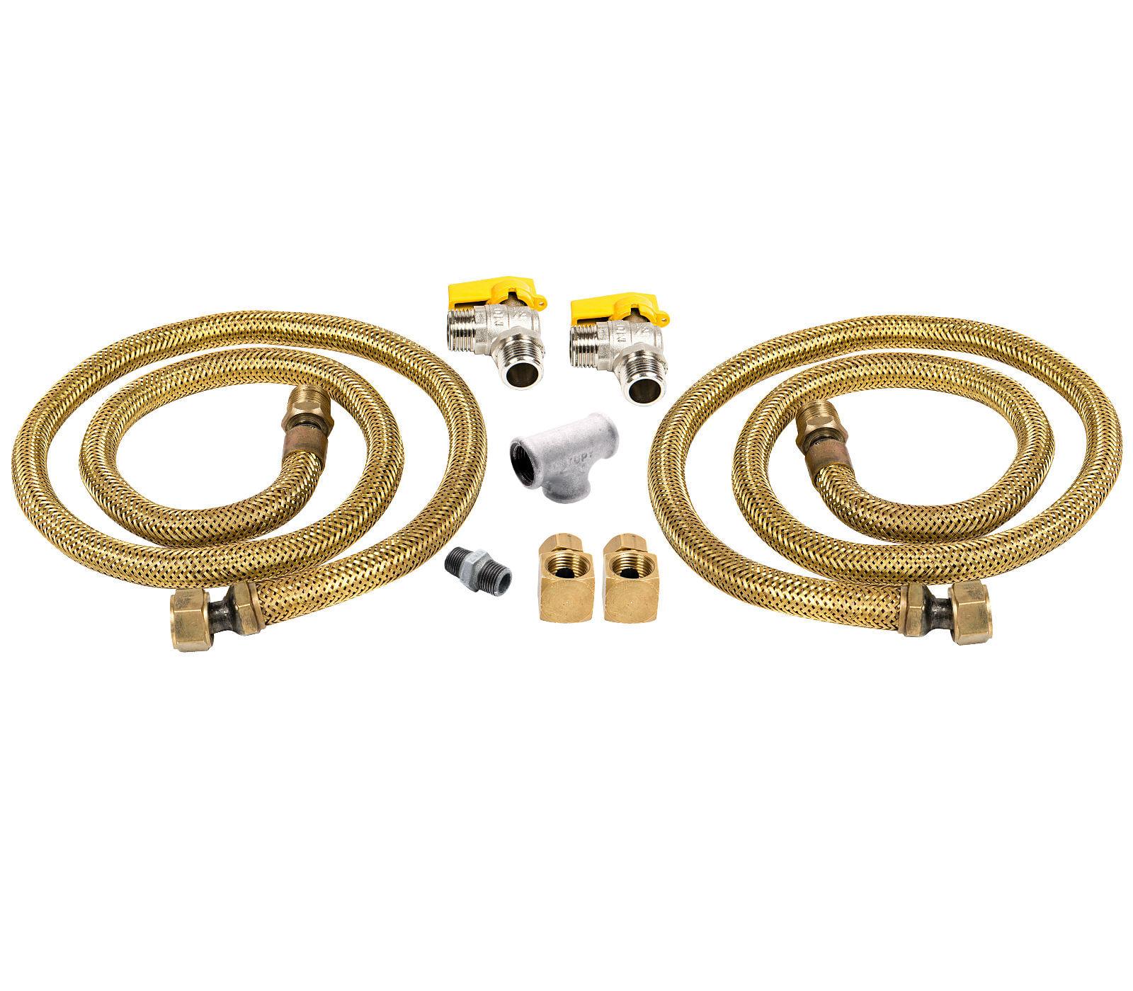 Kit de Instalação Dupla para Cooktop e Forno Original para Gás Encanado - CJ-W10866791_2GN
