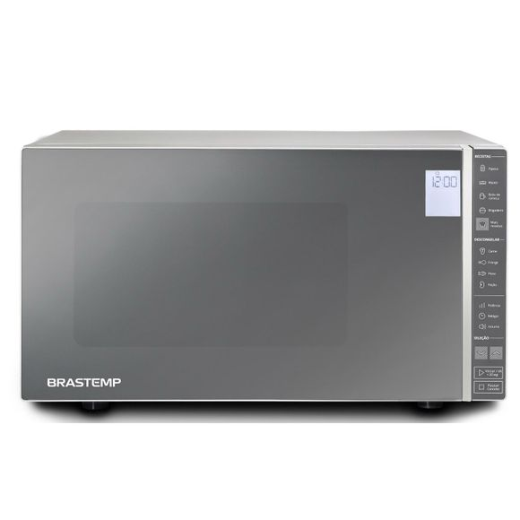 Micro-ondas Espelhado -  micro-ondas espelhado 32 litros inox BMS45CR Brastemp - Imagem Frontal