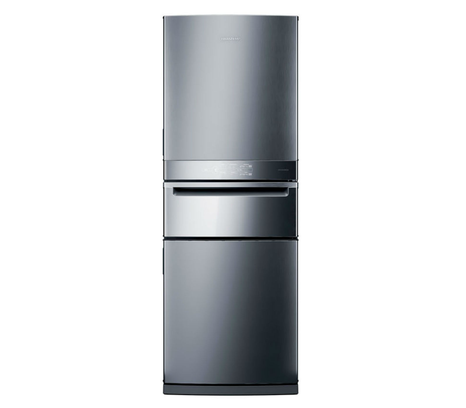 Geladeira Brastemp Inverse 3 Frost Free 419 litros cor Inox com Freeze Control Pro - BRY59AK
