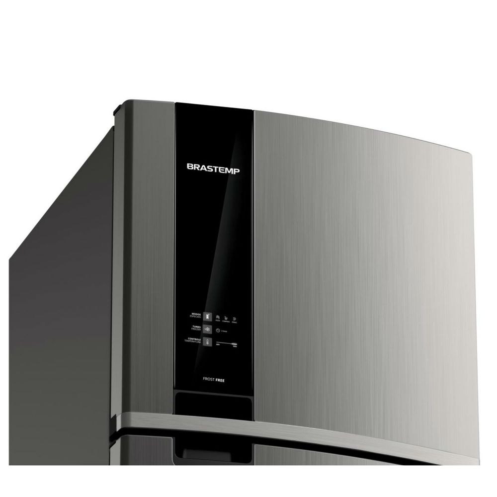 6eb60ca2f Geladeira Brastemp Frost Free Duplex 375 litros cor Inox com Espaço ...
