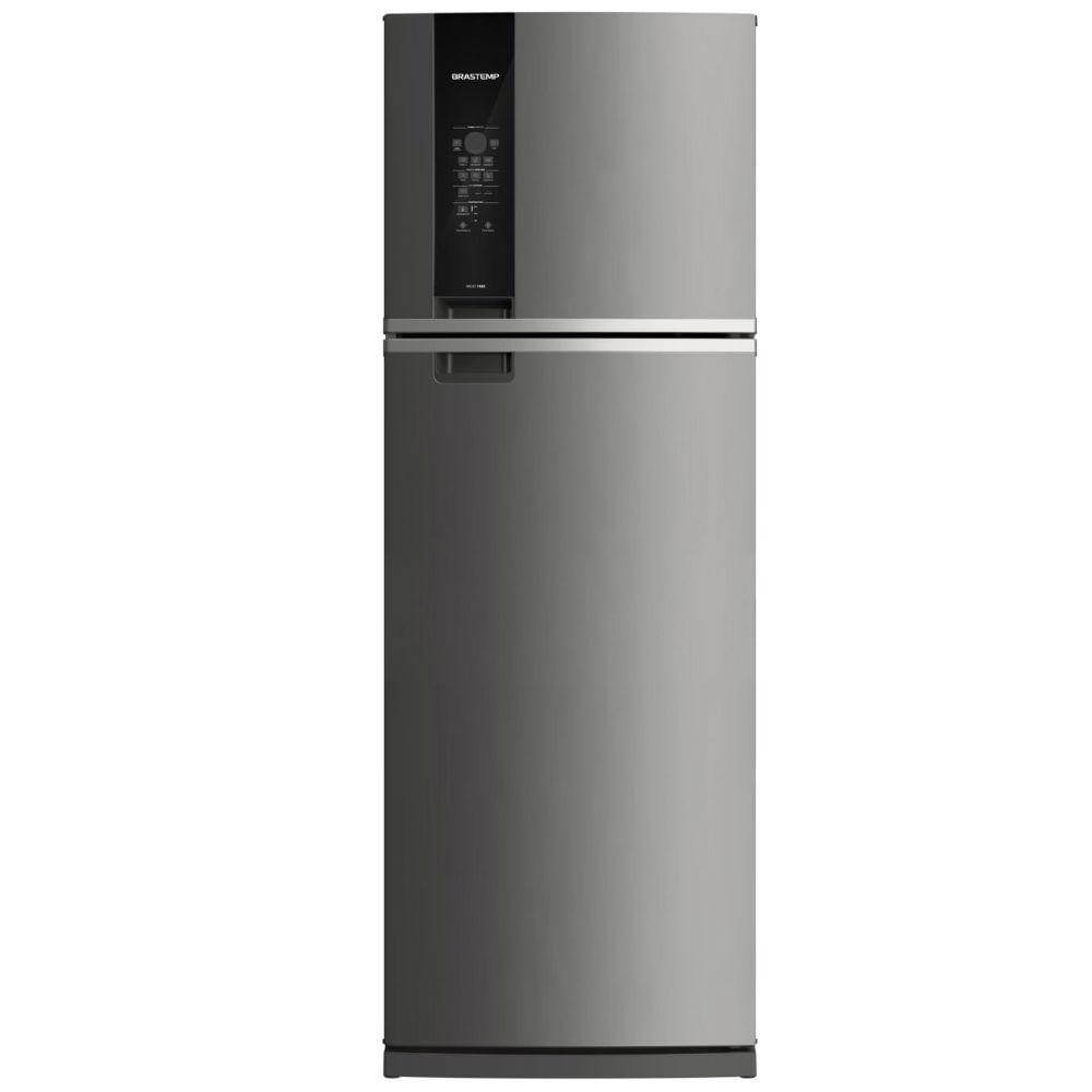 Geladeira Brastemp Frost Free Duplex 478 litros cor Inox com Freezer Control Advanced