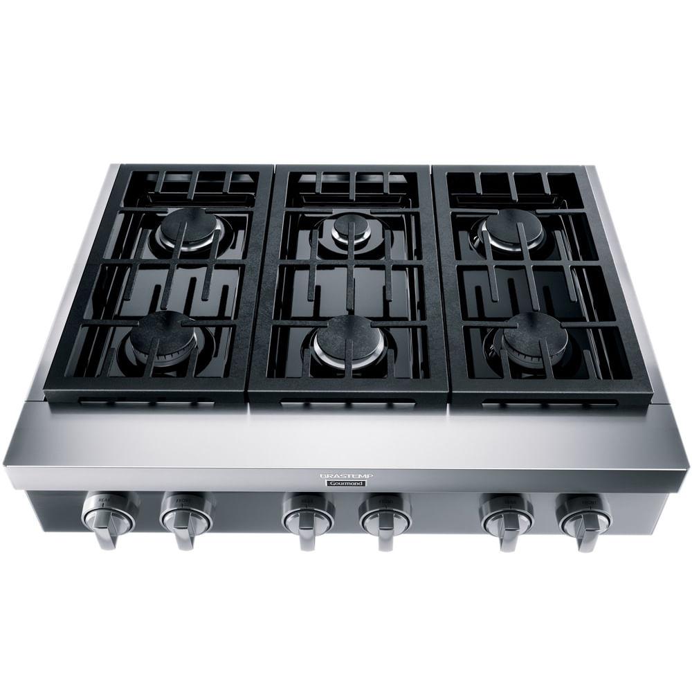 Rangetop de embutir semiprofissional Brastemp Gourmand 6 bocas inox com chamas de alta potência e simmer - BDR90AR