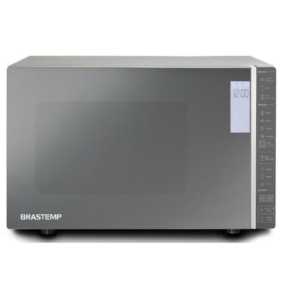 Micro-Ondas Brastemp 32 Litros Cor Inox Espelhado Com Grill E Painel Integrado - Bmg45ar 220V