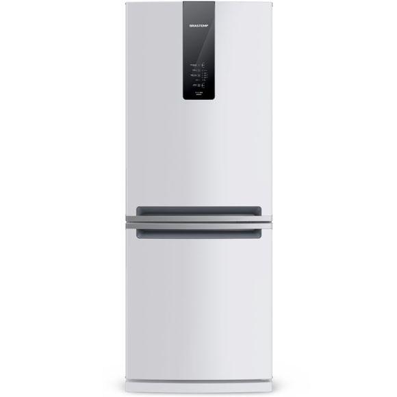 Geladeira Brastemp Frost Free Inverse 443 Litros Branca Com Turbo Ice - Bre57ab 110V