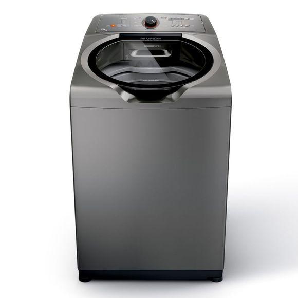 Máquina De Lavar Brastemp 15Kg Titânio Com Ciclo Edredom Especial E Enxágue Anti-Alérgico   - Bwn15at 110V