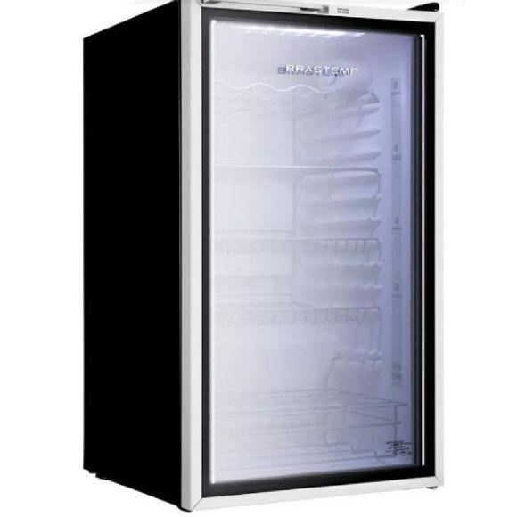 Frigobar Brastemp 120 Litros Com Porta De Vidro - Bza12af 110V