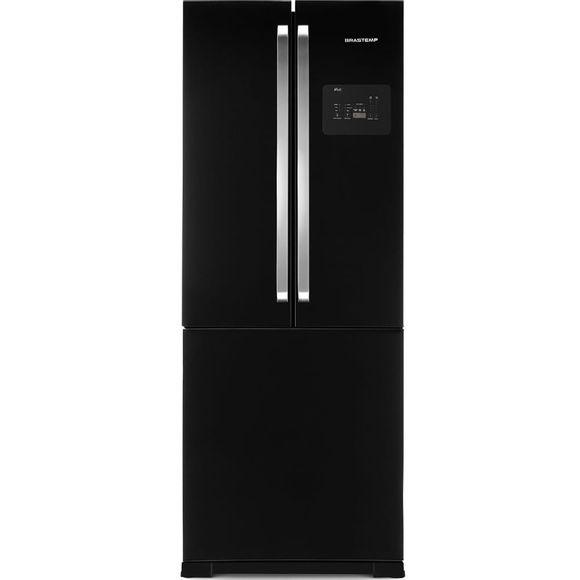 Geladeira Brastemp Frost Free Side Inverse 540 Litros Preto Com Ice Maker - Bro80ae 110V